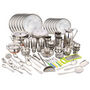 Klassic Vimal 146 Pcs Stainless Steel Dinner Set - Silver