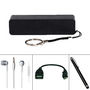 Combo Of Vizio 2600mAh Power Bank + Stylus pen + OTG Cable v8 + Earphone