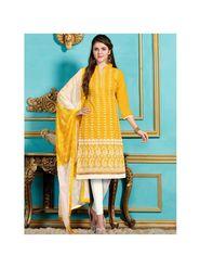 Viva N Diva Emroidered Unstiched Cotton Dress Material_11135-Elifa
