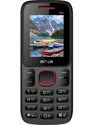 Intex Nano 106 Dual SIM Mobile Phone - Black  & Red