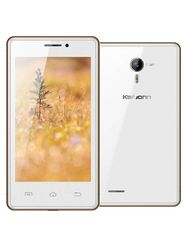 Karbonn A81 4 Inch Android KitKat 3G Smartphone (RAM:512MB ROM:4GB) - White & Gold