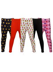 Pack of 5 Little Star Girl's Multicolor Leggings - PO5L_113