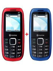Combo of Forme C1+ Dual SIM Feature Phone- ( Red + Blue)