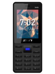 ZEN X49 Dual SIM Feature phone (Black Blue)