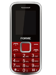 Forme N3 1.8 inch Dual Sim Feature phone (Red)