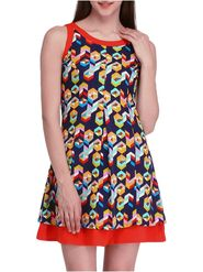 Lavennder Printed Crepe Multicolor Dresses -Ld9021