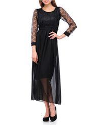 Lavennder Plain Georgette Black Gowns -Ld9027