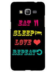 Snooky Designer Print Hard Back Case Cover For Samsung Galaxy Core Prime G360H - Black