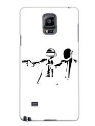 Snooky Designer Print Hard Back Case Cover For Samsung Galaxy Note 4 - White