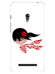 Snooky Designer Print Hard Back Case Cover For Asus Zenfone 4.5 - White