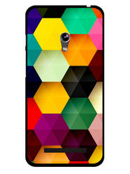 Snooky Designer Print Hard Back Case Cover For Asus Zenfone 4.5 - Multicolour
