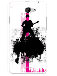 Snooky Designer Print Hard Back Case Cover For HTC Desire 516 - Black