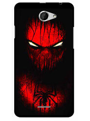 Snooky Designer Print Hard Back Case Cover For HTC Desire 516 - Red