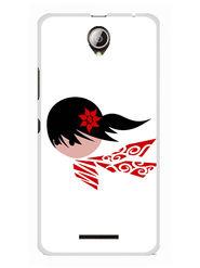 Snooky Designer Print Hard Back Case Cover For Lenovo A5000 - White