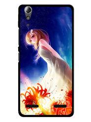 Snooky Designer Print Hard Back Case Cover For Lenovo A6000 - Blue