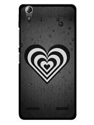Snooky Designer Print Hard Back Case Cover For Lenovo A6000 - Grey