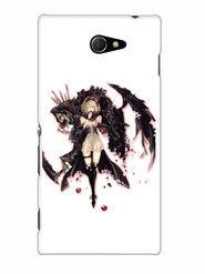 Snooky Designer Print Hard Back Case Cover For Sony Xperia M2 - Black