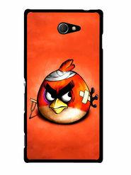 Snooky Designer Print Hard Back Case Cover For Sony Xperia M2 - Orange