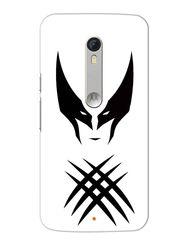 Snooky Designer Print Hard Back Case Cover For Motorola Moto X Play - White