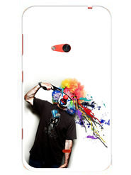 Snooky Designer Print Hard Back Case Cover For Nokia Lumia 625 - Multicolour