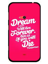 Snooky Designer Print Hard Back Case Cover For Nokia Lumia 625 - Rose Pink