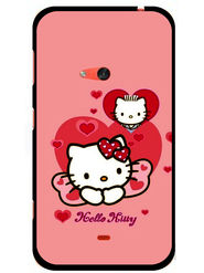 Snooky Designer Print Hard Back Case Cover For Nokia Lumia 625 - Pink