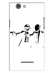 Snooky Designer Print Hard Back Case Cover For Xolo A500s - White