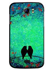 Snooky Designer Print Hard Back Case Cover For Micromax Canvas 2 A110 - Multicolour