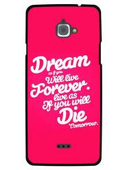 Snooky Designer Print Hard Back Case Cover For InFocus M530 - Rose Pink