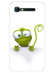 Snooky Designer Print Hard Back Case Cover For Intex Aqua Y2 pro - Green
