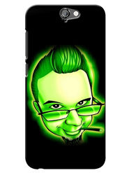 Snooky Digital Print Hard Back Case Cover For HTC One A9 - Green