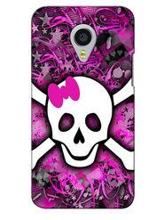 Snooky Digital Print Hard Back Case Cover For Meizu MX4 Pro - Purple