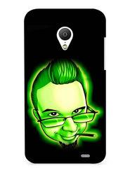 Snooky Digital Print Hard Back Case Cover For Meizu MX3 - Green