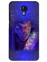 Snooky Digital Print Hard Back Case Cover For Micromax Canvas Nitro 3 E455 - Blue