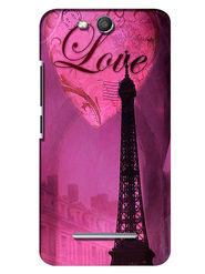 Snooky Digital Print Hard Back Case Cover For Micromax Canvas Juice 3 Q392 - Purple