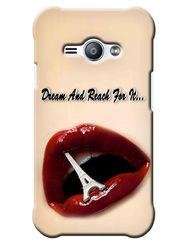 Snooky Digital Print Hard Back Case Cover For Samsung Galaxy J1 Ace - Cream