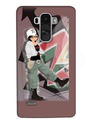 Snooky Digital Print Hard Back Case Cover For LG G4 Stylus - Brown