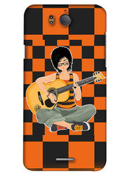 Snooky Digital Print Hard Back Case Cover For InFocus M530 - Orange