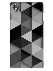 Snooky Digital Print Hard Back Case Cover For Lava Iris 800 - Grey