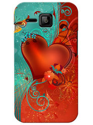 Snooky Digital Print Hard Back Case Cover For Micromax Bolt S301 - Red