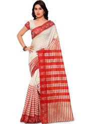 Viva N Diva Plain Banarasi Silk Beige Saree -vs11