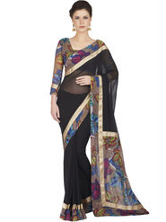 Designersareez Faux Georgette Embroidered Saree -1809