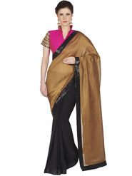 Designersareez Bhagalpuri & Georgette Embroidered Saree -1813