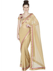 Designersareez Faux Georgette Embroidered Saree -1861