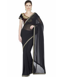 Designersareez Faux Georgette Embroidered Saree -1874