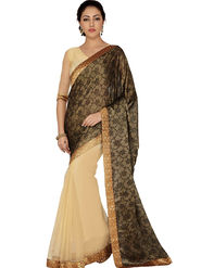 Designersareez Printed Net and Brasso Saree -2007