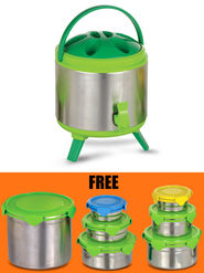 Insulated Aqua Jug with 7 Pcs Storage Container