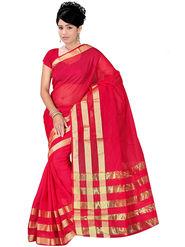 Adah Fashions Red South Silk Saree -888-109