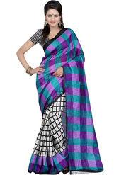 Triveni Printed Bhagalpuri Silk Multicolor Saree -tsb27
