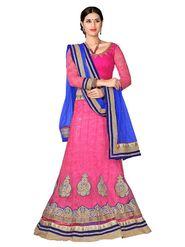 Khushali Fashion Embroidered Net Lehenga Choli(Pink)_ASFN2A116PINK